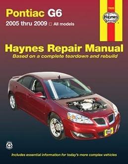 pontiac g6 haynes repair manual browse manual guides u2022 rh npiplus co Pontiac G6 Battery Size pontiac g6 2007 repair manual
