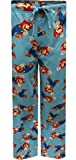 xbox pants - Nintendo Super Mario Light Blue Lounge Pants for men (Medium)