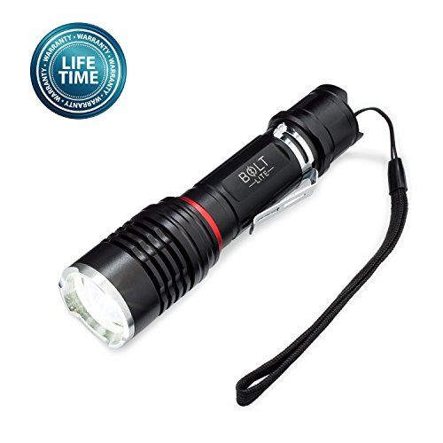 - Tactical Flashlight Rechargeable Battery Zoomable Super Bright 1000 Lumens CREE LED- Includes Battery, Case, Charger, Camping light, Emergency Light