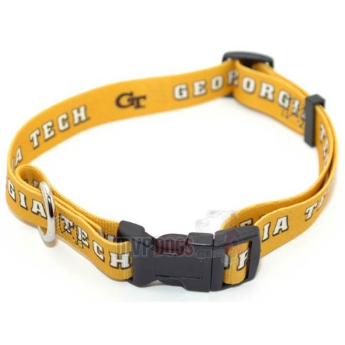 "Georgia Tech Yellow Jackets NCAA Dog Collar L: 18-26"" length, 1"" width"