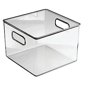 mDesign Plastic Kitchen Food Storage Organizer Bin with Handles