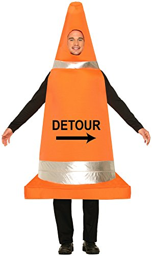 Forum Novelties Men's Traffic Cone Costume, Orange, One Size