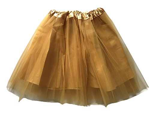Irish Dancing Costumes For Girls (Rush Dance Teen Adult Classic Ballerina 3 Layers Satin Lining Tulle Tutu Skirt (Teen/Adult, Gold))