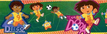 DORA & GO DIEGO prepasted WALL PAPER BORDER wallpaper