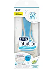 Intuition Fresh Mist Razor and 2 Cartridge Refills for Women, Cucumber, 1 Count