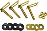 Kissler & Company Inc. 68-6500 Adjustable Tank to Bowl Set, Solid Brass