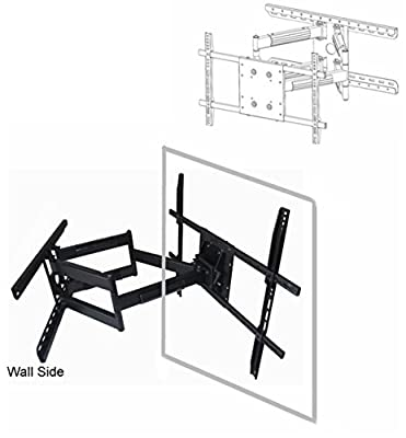"Universal UAW-600 Long 32"" extension Articulating Wall Mount to 90"" (16"" or 24"" stud) for LED TV, LCD TV, Plasma TV"