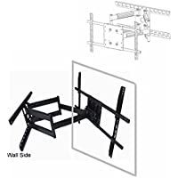 Universal UAW-600 Long 32 extension Articulating Wall Mount to 90 (16 or 24 stud) for LED TV, LCD TV, Plasma TV