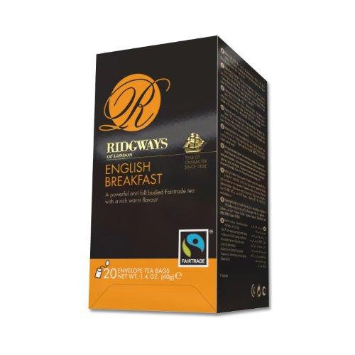 Ridgways English Breakfast Tea Fair Trade Certified, 20-count