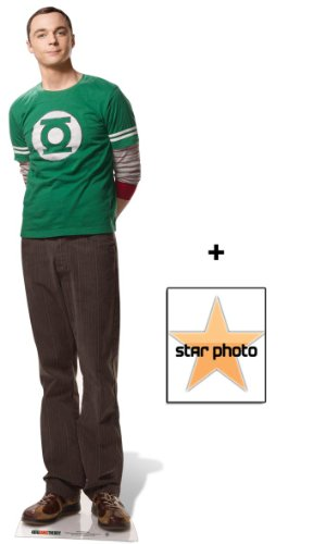 Fan Pack - Dr Sheldon Cooper Lifesize Cardboard Cutout / Standee (Jim Parsons The Big Bang Theory) - Includes 8x10 (25x20cm) Star Photo