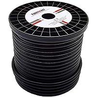 TUOFENG 8 mätare silikon tråd spole 60 fot svart 8 AWG tråd 1650 trådar OFC förbränd koppartråd, lödning genom snabbt