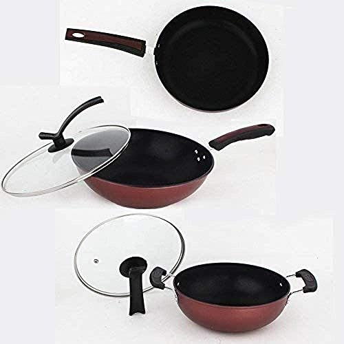 AFDK Batterie de cuisine Pot, Multi-Function ménages antiadhésifs Pan, Cuisine Wok Poêle électrique Marmite Grills