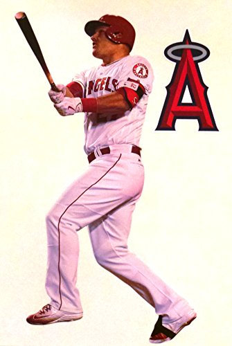 Mike Trout Mini FATHEAD Los Angeles Angels Logo Official MLB Vinyl Wall Graphics 7