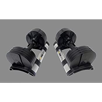 Image of Core Fitness Adjustable Dumbbell Weight Set by Affordable Dumbbells - Adjustable Weights - Space Saver - Weights - Dumbbells for Your Home - Dumbbells