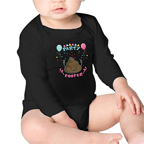 Price comparison product image PBRTEQR Happy Birthday Party Poop Pooper Baby Bodysuit Newborn Long Sleeve Baby Onesies