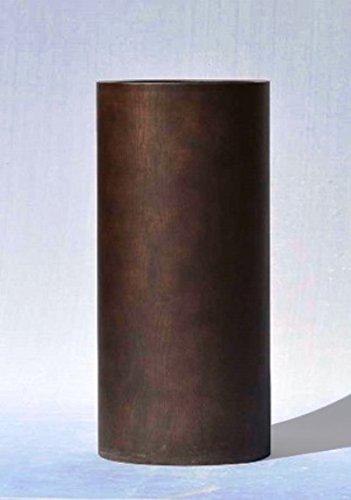 木目調 樹脂製 大型鉢カバー MOKU トールシリンダー 40xH100cm B0784PSQQT