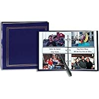 3-ring 2-up slip-in pocket NAVY-BLUE binder album for 400 photos - 4x6