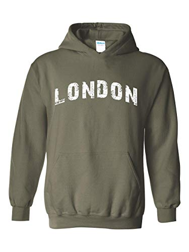 Mom`s Favorite London City UK Europe Traveler Gift Unisex Hoodie (XLMG) Military -