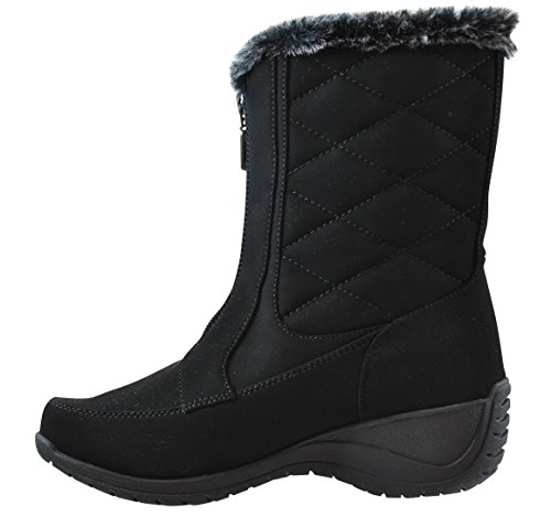 Khombu Women's Angie Mid Calf Winter Boot Black 8 B(M) US - Mid Calf Zip Boot