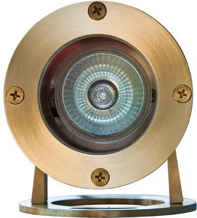 DABMAR LIGHTING LV323-BS Solid Brass Pond/Fountain Underwater Light, Brass