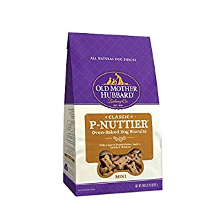 Old Mother Hubbard Classic P-Nuttier Biscuits Baked Dog Treats, Mini, 20 Ounce Bag