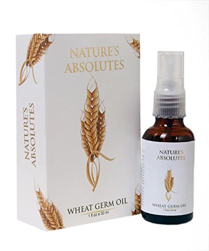 Nature's Absolutes Wheat Germ Pure Carrier Oil - 1Oz/30 ml, 100% Pure,Organic & Coldpressed For Hair and Skin ()