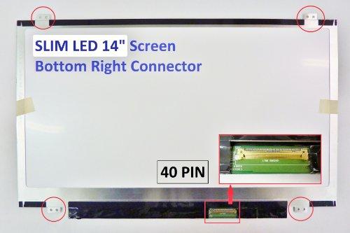 (HP 340 G1 (F0P56AV) Laptop Screen 14 SLIM LED BOTTOM RIGHT WXGA HD)