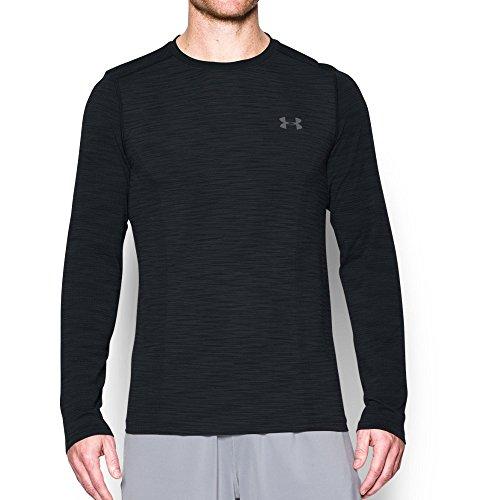 Under Armour Men's Threadborne Seamless Long Sleeve T-Shirt, Black /Graphite, -