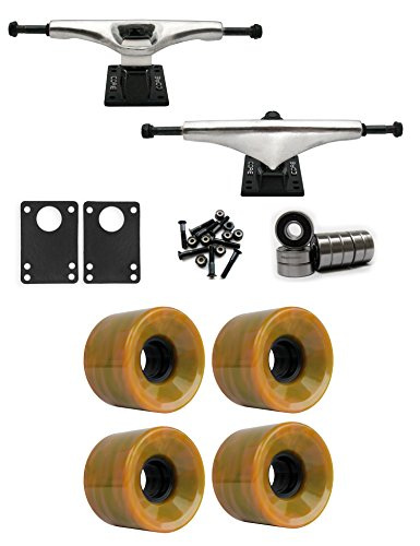 共和党剣トラフコア7.0 Longboard Trucksホイールパッケージ60 mm 78 a Green / Orange Swirl