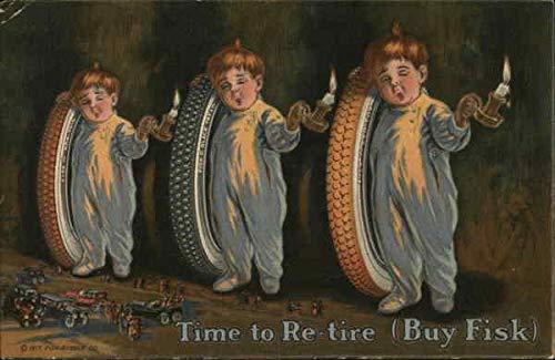 Vintage Advertising Postcard: Fisk Tires - Fisk Rubber Company Advertising