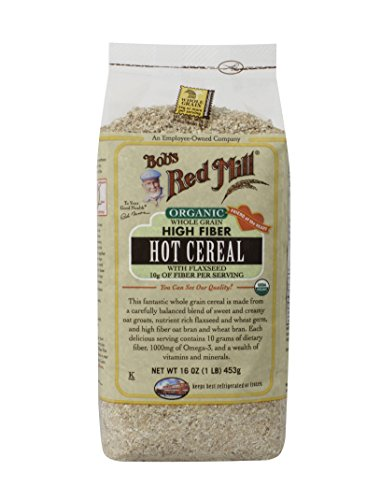 Bobs Red Mill Organic Whole Grain High Fiber Hot Cereal, 16-ounce (Pack of 4)