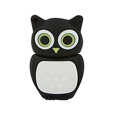 CHUYI Cartoon Animal PVC Owl Shape USB 2.0 Flash Drive Pendrive Novelty Memory Stick Pen Drive Cute Thumb Drive Gift