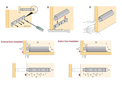 10PCS Drawer Catch System Soft Close Push Open System Damper Buffer For Cabinet Door by Kasuki (Image #6)