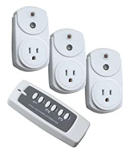Woods 13568 Indoor Wireless Remote Control Outlet, 3-Outlet