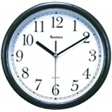 "ADVANCE CLOCK CO. 10"" Wall Clock [Black]"