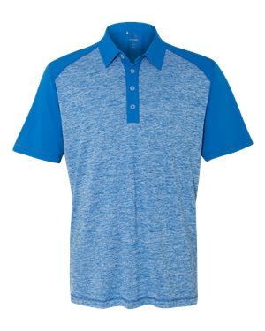 - adidas Golf Mens Heather Colorblock Polo (A145) -Bright Roy -XL