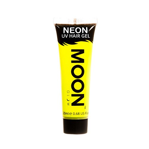 Moon Glow - Blacklight Neon UV Hair Gel - 0.67oz Intense Yellow – Temporary wash out hair color - Spike and Glow! ()