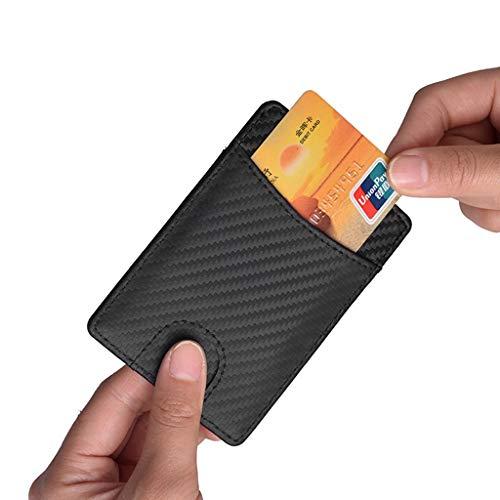 SUJING Men Antimagnetic Carbon Fiber Card Package Leather Document Set Credit Card Set