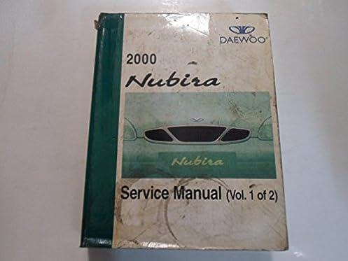 2000 daewoo nubira service repair shop manual volume 1 of 2 water rh amazon com daewoo tacuma owners manual pdf daewoo nubira service manual pdf