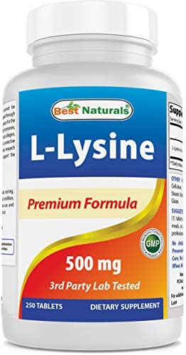Best Naturals L-Lysine 500 mg 250 Tablets