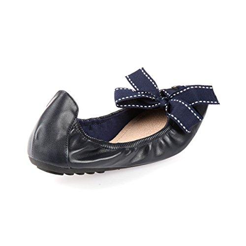 La Modeuse-Bailarinas de punta cuadrada Azul - azul marino