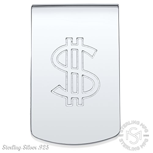 Sterling Silver .925 Dollar Sign Money Clip. Designed and Made In Italy. By Sterling Manufacturers by Sterling Manufacturers (Image #2)