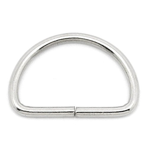 417krOBUECL. SS500  - AKORD 25mm Metal D Ring Buckles x 10 for Webbing, Silver, 25 mm