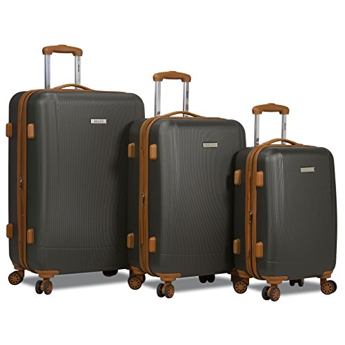 Dejuno Legion 3-PC Hardside Spinner TSA Combination Lock Luggage Set - Charcoal by Dejuno