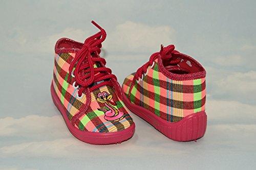 Zapatillas, Niños, Niñas, Velcro, Snap, cordones zapatos, multicolor, Lovely colores, countured plantilla, reforzada con, materiales naturales, antideslizante, UK tamaño 2, 3, 4, 5, 6, 7Lolly Rosa Lo