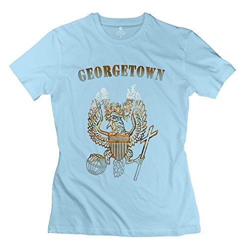 Women's Georgetown University Logo T Shirts Size S SkyBlue
