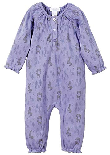 Feather Baby Girls Clothes Pima Cotton Long Sleeve Ruched One-Piece Jumpsuit -