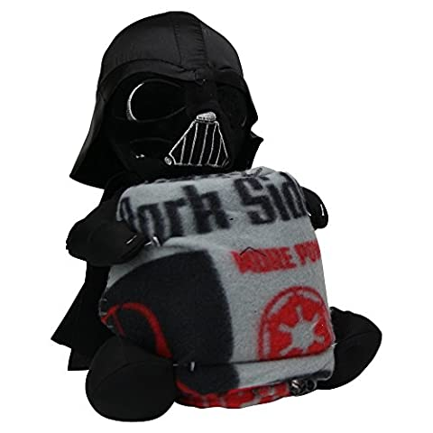 Kid's Character Throw Blanket and Pillow Set(Star Wars (Darth Vader)) (Star Wars Darth Vader Blanket)