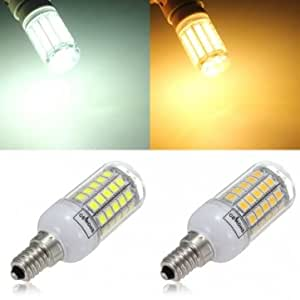 E14 6W 700LM 59 SMD 5050 LED Corn Light Lamp Bulbs AC 220-240V --- Color:warm white