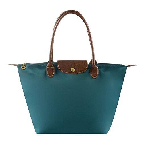 Cunada® Women Fashion Hobo Bag Large Tote Turquoise Shoulder Handbag